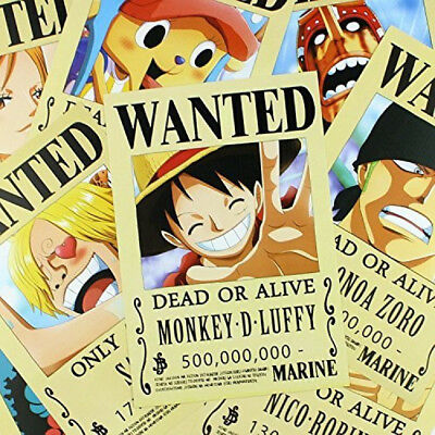 9 Wanted Posters Straw Hat Pirates Big Size Luffy Anime One Piece Pirate King
