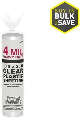 10-ft x 25-ft x 4 mil Easy Insulation heavy duty plastic Clear Consumer Sheeting