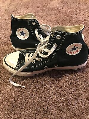 CONVERSE Chuck Taylor All Star High Top Canvas Shoes Black SIZE 3