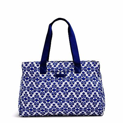 NWT VERA BRADLEY Triple Compartment Travel Bag Cobalt Tile