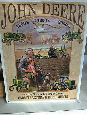 John Deere Tractors Metal Tin Sign Collectible 3rd Century of Quality