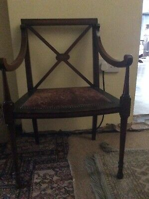 occasional antique writing chair