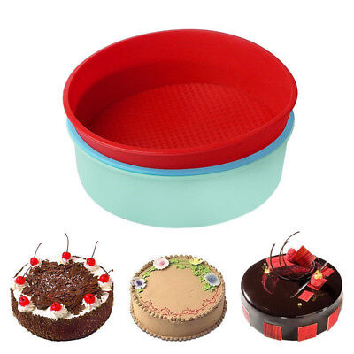 """10"""" DIY Round Silicone Cake Tin Form Baking Pan Bread Pastry Bakeware Mold Mould"""