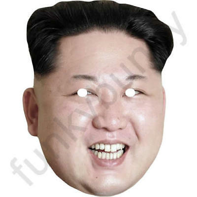 Kim Jong-un Version 2 - Celebrity Fun Card Mask - All Our Masks Are Pre-Cut!