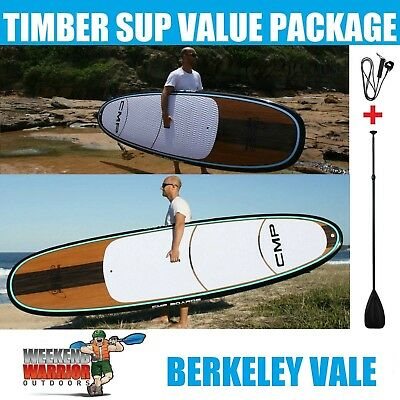 Stand up Paddle Board SUP Package 10' 10'6 11'4 Timber Blue or Aqua Paddleboard