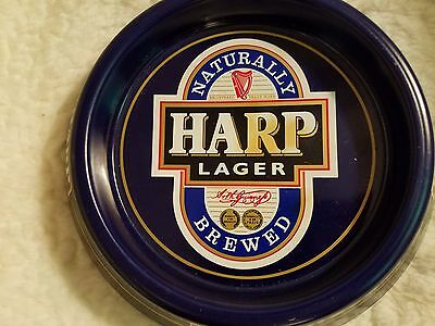 Harp Lager Beer Ashtray Harp Blue White Color Made of Metal