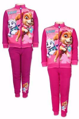 Girls Official Paw Patrol Fleece Lined Zip Tracksuit Printed Jogging Set Age 3-8