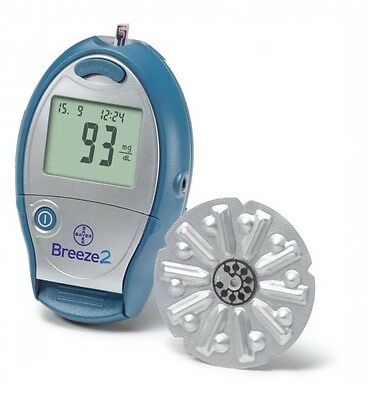 Ascensia Breeze 2 Blood Glucose Meter - Bayer -Diabetic - Single Unit Meter Only