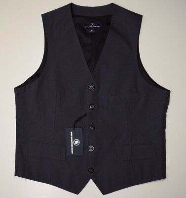 Hart Schaffner Marx Men's Dress Vest Suit Stripe Charcoal Size S M L XL NEW $150