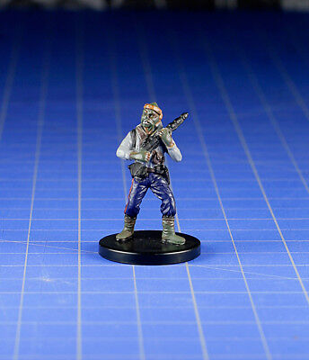 Star Wars miniatures minis Bounty Hunters Klatooinian Hunter #38 & Card WOTC