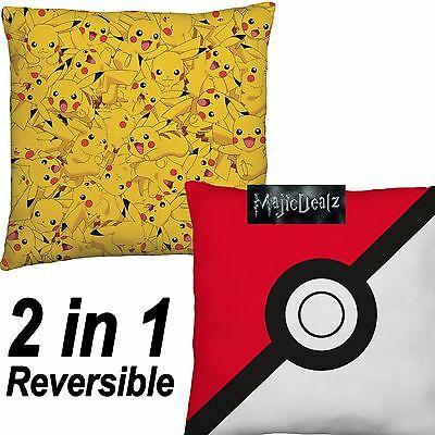 Official Pokemon Go! Catch Comfy Square Cushion Boys Girls Kids Monster Ball