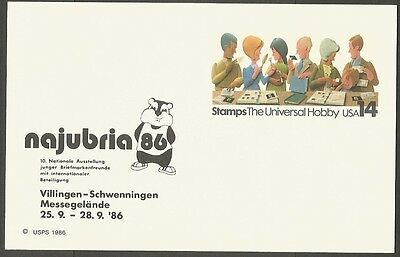 Us 1986 Stamps The Universal Hobby 14C Postal Card Najubria
