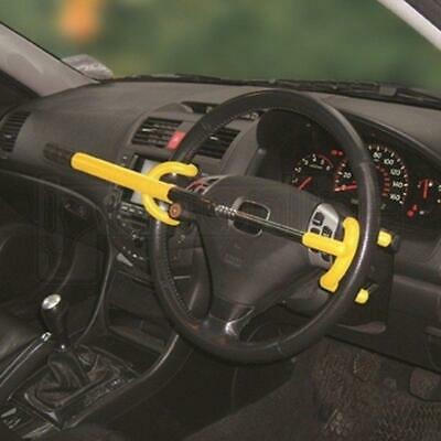 Streetwize Jumbo Steering Wheel Lock Double Hook Steering Wheel Lock - Yellow