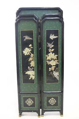 Edo Period Rare Superb Japanese Lacquer Screen with Precious Gem Stone Inlay