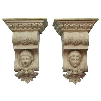 Pair of Large Extraordinary Architectural Corbel Wall Brackets