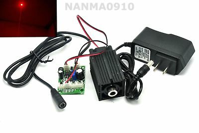 Focusable 635nm 638nm 500mW Orange-Red Dot Ray Laser Diode Module w 12V Adapter