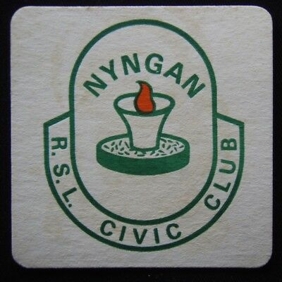 Nyngan RSL Civic Club Coaster (B306)