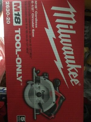 NEW!! Milwaukee 2630-20 M18 Cordless Circular Saw!! TOOL ONLY!!