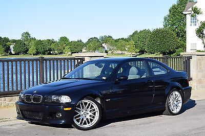 """2003 BMW M3 Base Coupe 2-Door 2003.5 BMW E46 M3 6MT ONLY 59K MINT STOCK EXAMPLE 19"""" CSL WHEELS + NEW TIRES"""