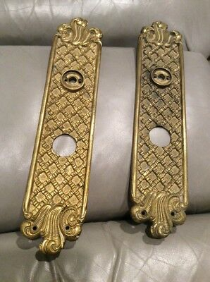 Intage Solid Brass Door Plates