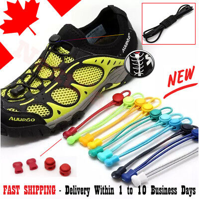 Shoelaces Elastic Lock No Tie Shoe Laces Running Athletic Jogging Sneaks Trainer