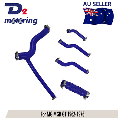 Silicone Radiator Coolant Hose Kit For MG MGB GT 1962-1976 1963 Blue