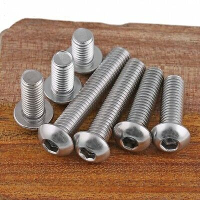 M6 6mm A2 Stainless Steel Button Head Allen Bolts Hexagon Socket Screws