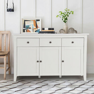 White Gloss Sideboard Modern Cabinet Cupboard Buffet Gloss Unit Chest Drawers