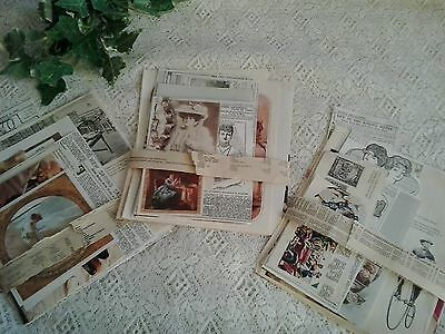 Vintage paper Victorian Edwardian era theme for craft collage scrapbooking
