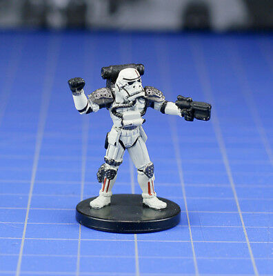 Star Wars miniatures Minis the Force Unleashed Evo Trooper #34 & card