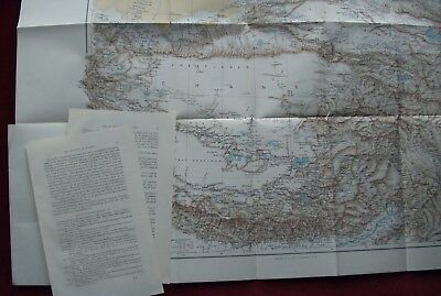 1894 ~ Map Of Tibet ~ Asia Himalaya Mount Everest Royal Geographical Society
