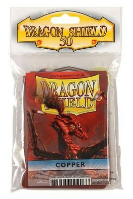 Dragon Shield - Copper 50 protective Sleeves - Standard Cases e.g. for Magic