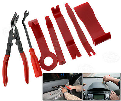 Car Interior Radio Door Panel & Trim Clip Removal Plier Upholstery Remover Tool