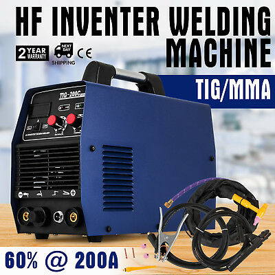 2 in 1 NEW Vevor TIG MMA 200A Portable Inverter Welder TIG And Stick Welding