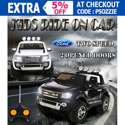 OZ Licensed Ford Ranger Children Kids Electric Ride On Car Toy Two Speed