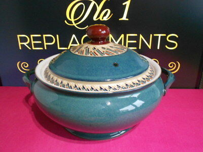 Denby Greenwich Accent Lidded / Covered Casserole Dish / Serving Tureen