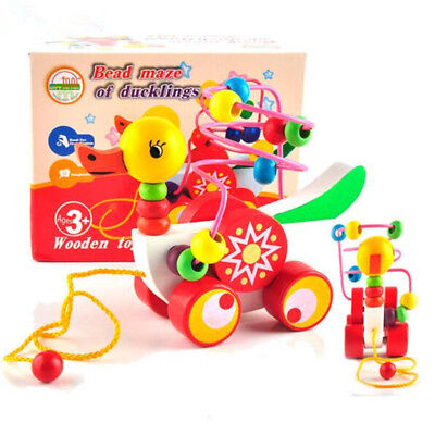 Wooded Bead Roller Coaster toy,  Educational development babies&Children Toy