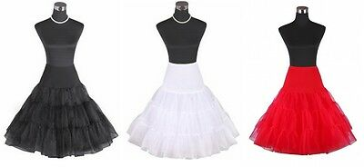 50's Rockabilly Petticoat Black Red White Retro Vintage Swing Skirt S- Plus Size