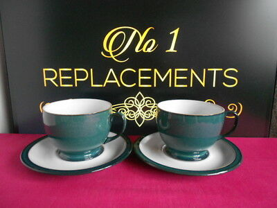 2 x Denby Greenwich Breakfast Cups and Saucers Last Set Available