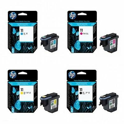 4 x Original Druckkopf HP Color Inkjet CP1700 / Nr. 11 BLACK CYAN MAGENTA YELLOW