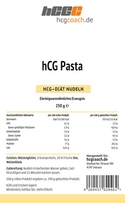 hCG Pasta, Low Carb Nudeln (250 g)