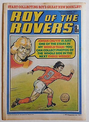 ROY OF THE ROVERS Comic - 19th November 1977