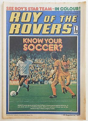ROY OF THE ROVERS Comic - 9th April 1977