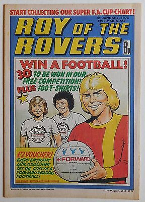 ROY OF THE ROVERS Comic - 7th January 1978