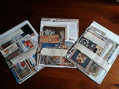 Vintage paper medieval middle ages gothic theme images text for craft collage