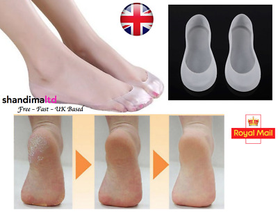 1 Pair Silicone Gel Moisturising Sock Heel Protector Cracked Foot Spa Feet Socks