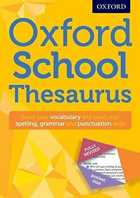 Oxford School Thesaurus: All round wri by Oxford Dictionaries New Paperback Book