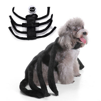 FT- Fancy Pet Dog Puppy Spider Harness Costume Clothes Apparel for Halloween Eye