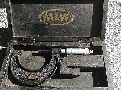 antique moore wright 1-2 Inch Micrometer