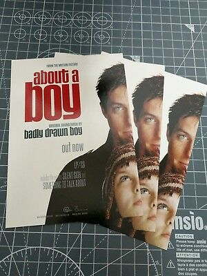 3x Badly Drawn Boy promo postcards (ABOUT A BOY soundtrack) Nick Hornby